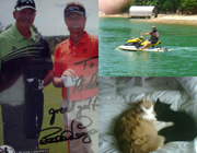 Golfing, Jet skiing, Cats: